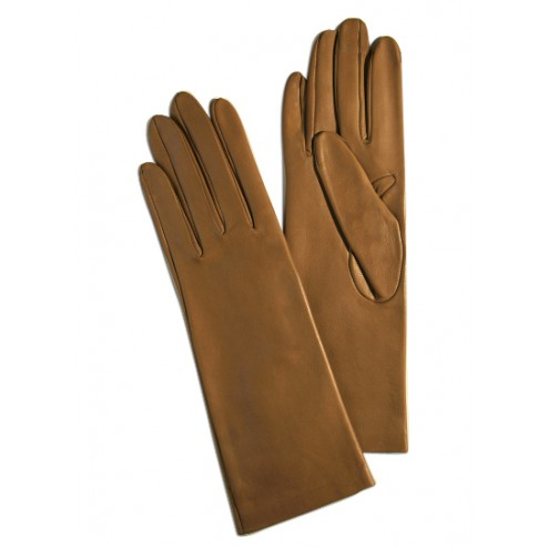 Leather Gloves in Camel