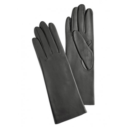 Leathe Gloves in Dark Grey