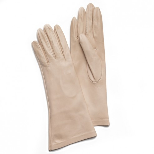 Leathe Gloves in Nude