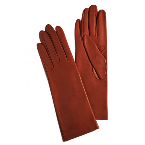 Leathe Gloves in Red