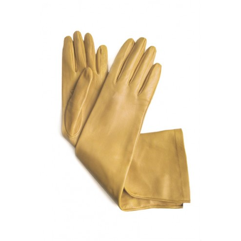 Leather Gloves in Moutard