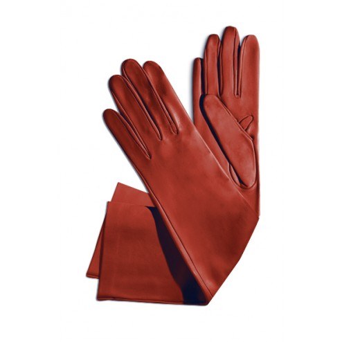 Leather Gloves in Red