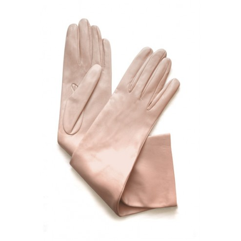 Leather Gloves in Light Pink