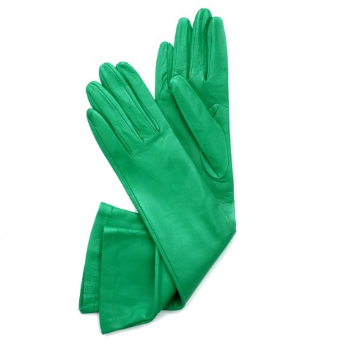 Leather Gloves in Green