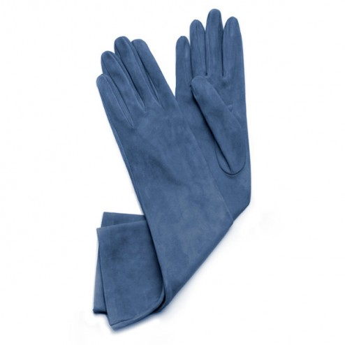 Suede Gloves Blue