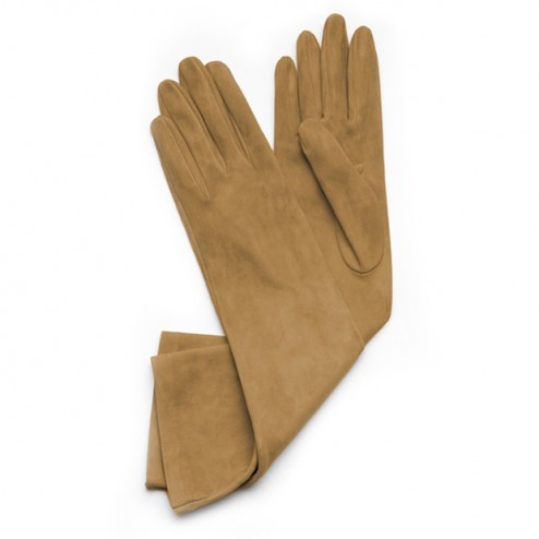 Suede Gloves Moutard
