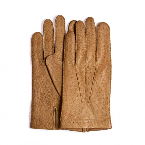 Peccary Leather Gloves Camel