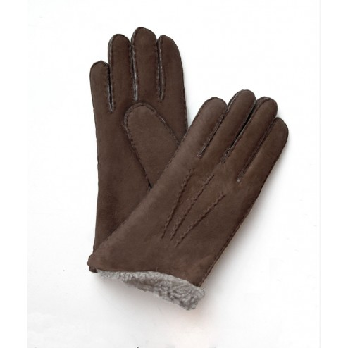 Mouton Gloves in Tobacco