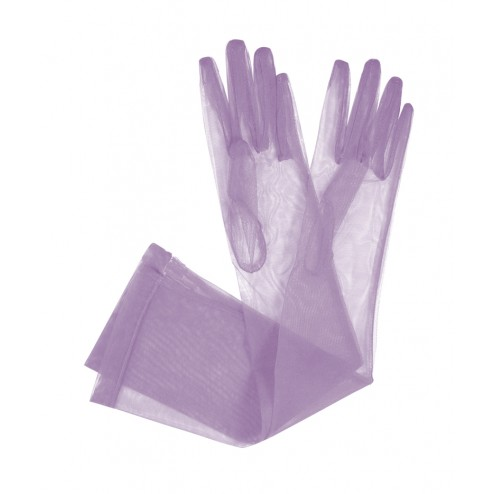 Tulle Gloves in Lilac
