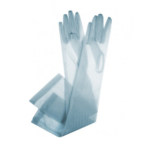 Tulle Gloves in Turquoise
