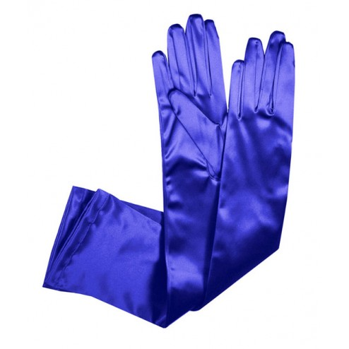 Special Satin Gloves in Deep Blue