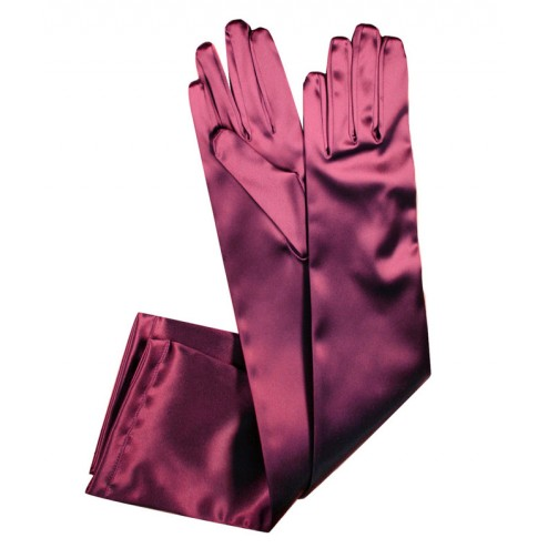 Special Satin Gloves in Fuchsia