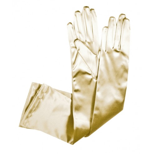 Special Satin Gloves in Ivory