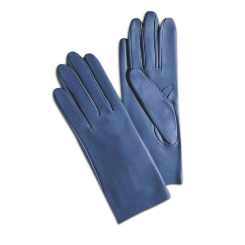 Leather Gloves in Blue Jeans