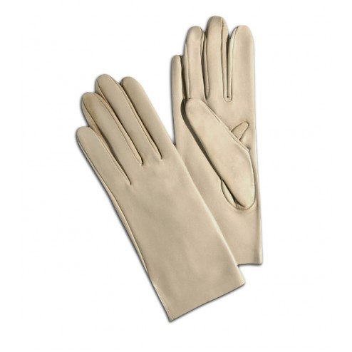Leather Gloves in Light Beige