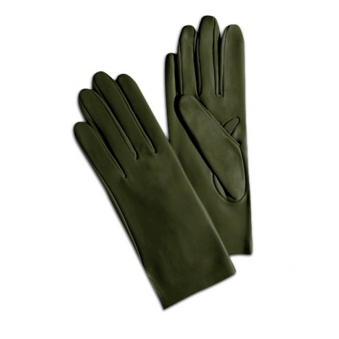 Leather Gloves in Olive