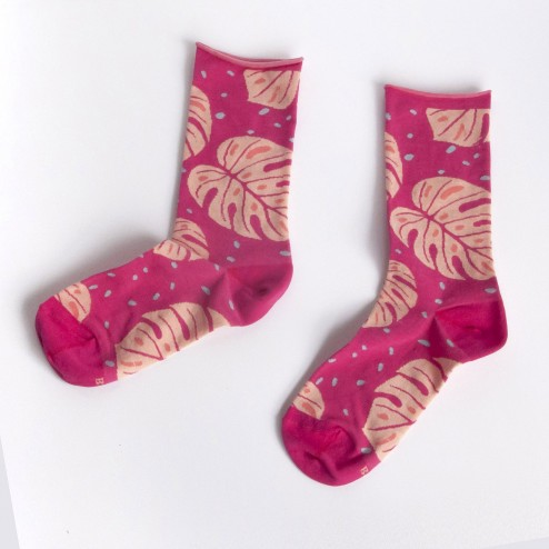 Calcetines intarsia tropical