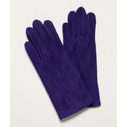 Carpincho Leather Gloves in Purple
