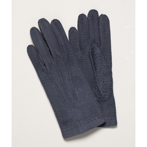 Carpincho Leather Gloves in Dark Grey