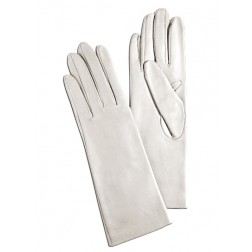 Leather Gloves in White