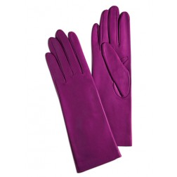 Leathe Gloves in Orchid Pink