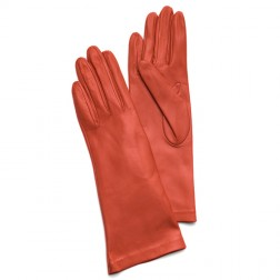 Leathe Gloves in Orange