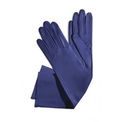 Leather Gloves in Deep Blue