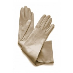 Leather Gloves in Beige