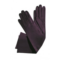 Leather Gloves in Aubergine