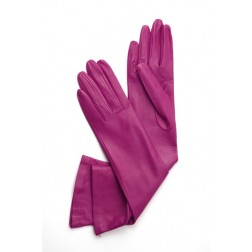 Leather Gloves in Orchid Pink