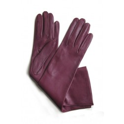 Leather Gloves in Wine