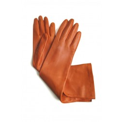 Leather Gloves in Orange
