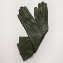 Leather Gloves in Dark Green