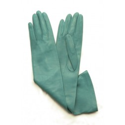 Leather Gloves in Turquoise