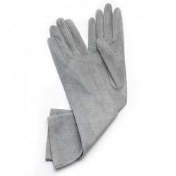 Suede Gloves Light Grey