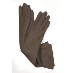 Suede Gloves in Brown