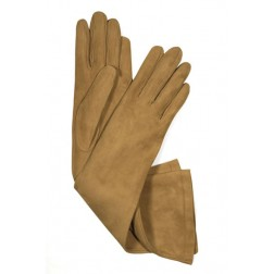 Suede Gloves in Moutard