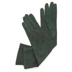 Suede Gloves Dark Green