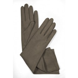 Suede Gloves in Taupe