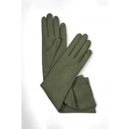 Suede Gloves in Green