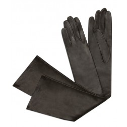 Leather Gloves in Chocolat Brown