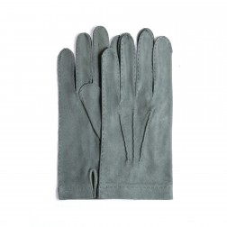 Light Grey Suede Gloves