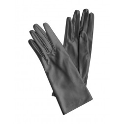 Satin Gloves in Medium Grey