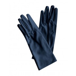 Satin Gloves in Navy Blue