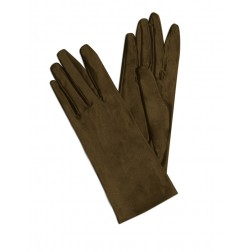 Satin Gloves in Brown