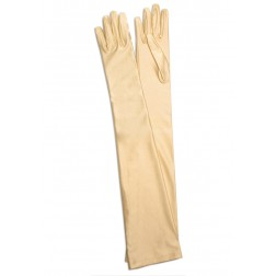 Satin Gloves in Beige