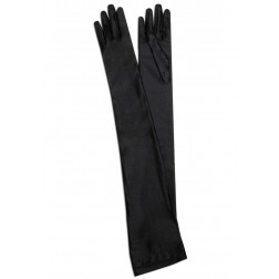 Satin Gloves in Black