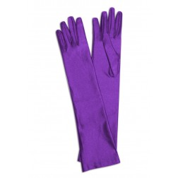 Satin Gloves in Purple