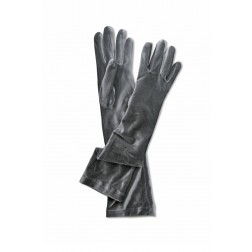 Velvet Gloves in Grey