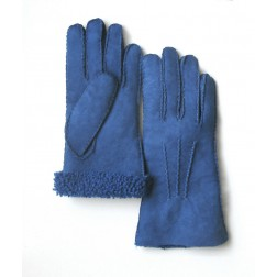 Mouton Gloves in Blue